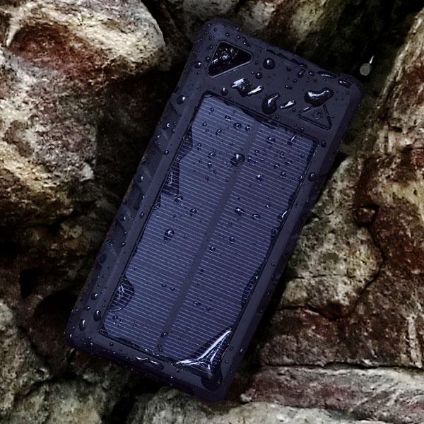 ソーラーモバイルバッテリー16000mAh 3R-BTC04BK